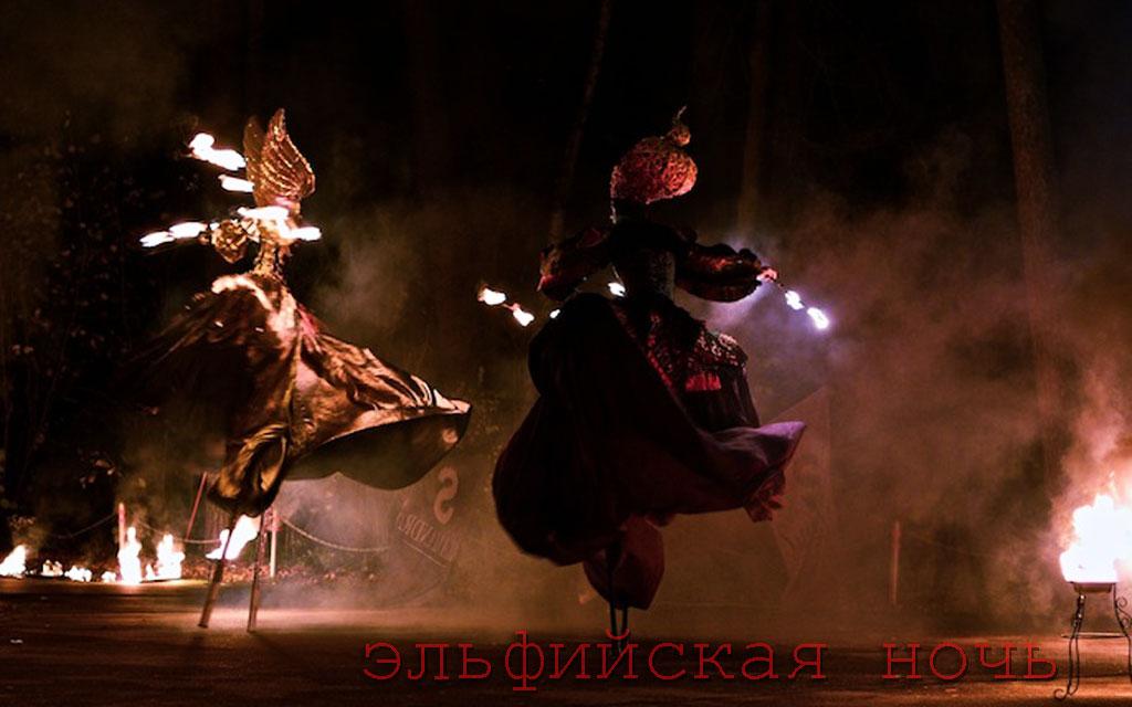 фаер шоу Эльфийская ночь